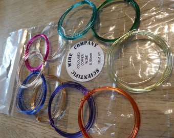 Hope Jacare - Assorted coloured copper wire - 10 colours 0.5mm wire - 1m of each