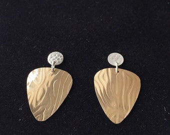 Geometric Gold & Silver Earrings