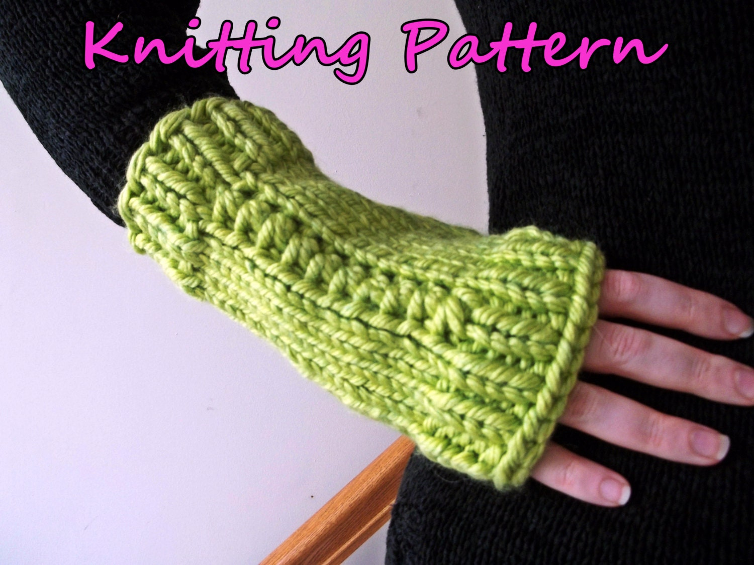 Knit Your Gifts! - Chunky Fingerless Glove Knitting Pattern for ...