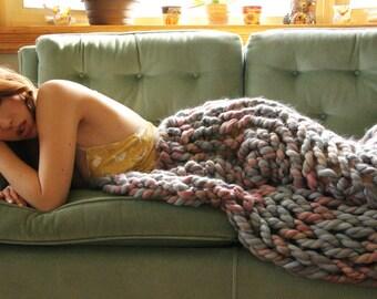 Vegan Chunky Arm Knit Blanket