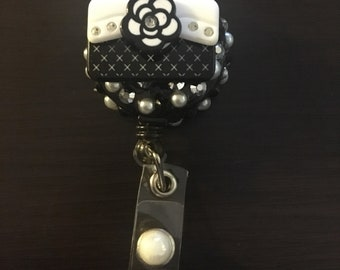 Black and pearl bag