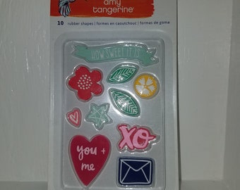 Amy Tangerine Rubber Stamp Collection