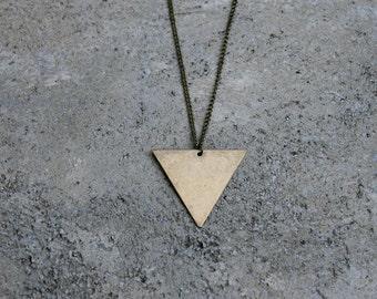 Triangle Necklace // Minimal Necklace // Layering Necklace // Geometric Necklace // Brass Triangle Necklace // Arrow Necklace