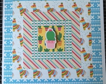 Mexican inspired party handmade card