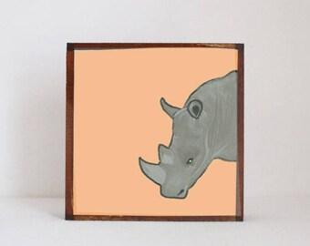 rhino safari nursery art boho modern nursery animal prints jungle nursery decor boho art print childrens room decor redtilestudio
