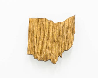 Ohio Wooden Magnet - OH State Magnet - State of Ohio Magnet - Wooden Ohio Laser Cut Magnet - Wooden OH Charm - Ohio State Magnet