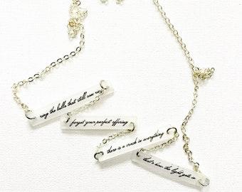 CUSTOM Jewelry // Custom Necklace // Personalized Jewelry // Lyrics Jewelry // Personalized Gift // Favorite Song // Music Jewelry