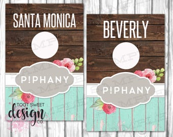 Piphany Rack Cards, Piphany Hanging Dividers, Piphany Clothing Style Names for Clothes Racks, Hanger Tags, Rustic Wood, INSTANT DOWNLOAD