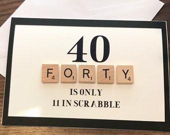 40th Scrabble Birthday card