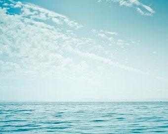 Nautical decor ocean photography beach fine art photography 8x8 8x10 8x12 teal art print coastal prints water ripples summer aquamarine blu
