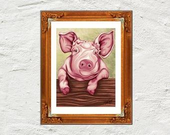 Print pig art print