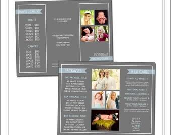 Tri Fold Brochure Etsy - 85x11 tri fold brochure template