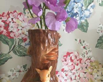 Vintage hornsea bambi/deer vase