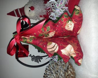 patchwork 3 fabric Christmas tree shades