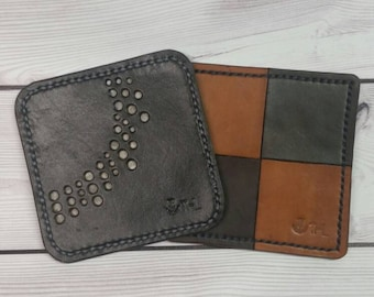 Leather Coaster (hand stitched)
