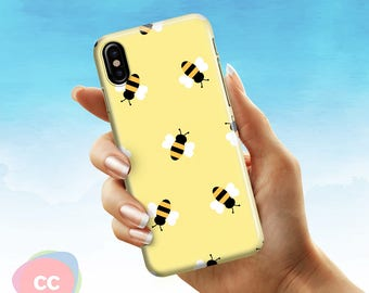 Gold Bumblebee Phone Case / iPhone X Case / iPhone X Cases / Apple iPhone 8, 8 Plus, 7, 6, 6S, 5, 5S, SE Case Cover - PC-133
