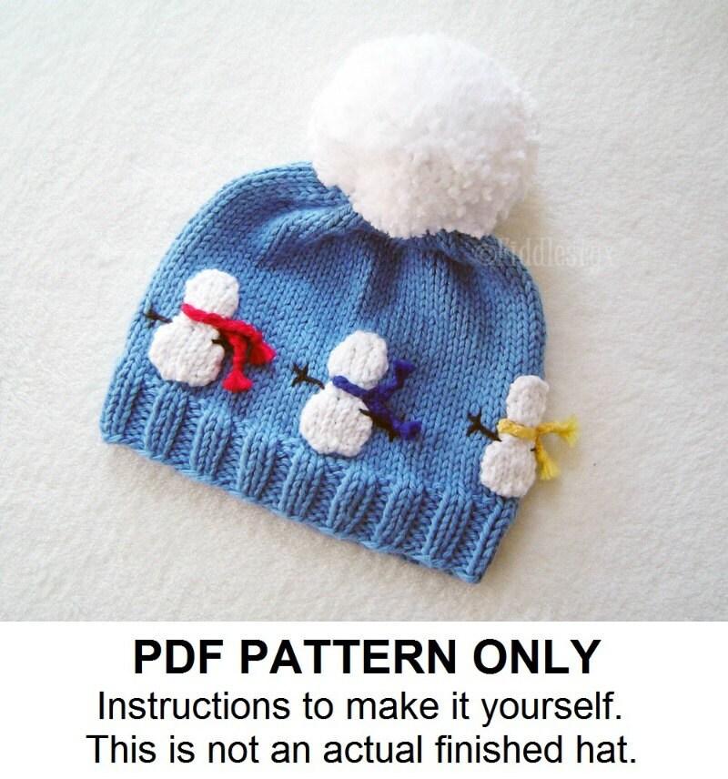Hat Knitting Pattern - Snowman Hat Pattern - the OLAF Hat (Newborn ...
