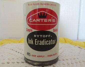 Vintage Carter's Rytoff Ink Eradicator