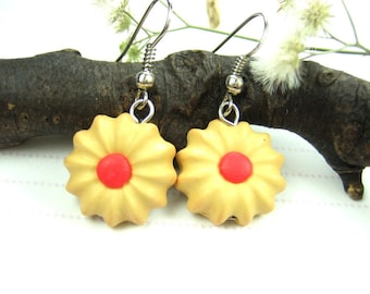 Butter Cookies Earrings - Food Jewelry, food earrings, cookie earrings jewelry charms polymer clay cute womens gifts for her food