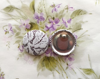 Lace Button Earrings / Oversized / Wholesale Jewelry / Gifts for Her / Post Earrings / Handmade in USA / Bohemian Wedding / Plum Purple