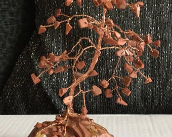 Goldstone gemstone tree