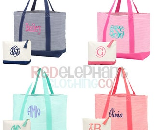 Monogram Tote Bag, Monogrammed Bridesmaid Gift, Personalized Boat Tote, Bridesmaid Tote Bag, Embroidered Beach Bag, Monogram Carry All