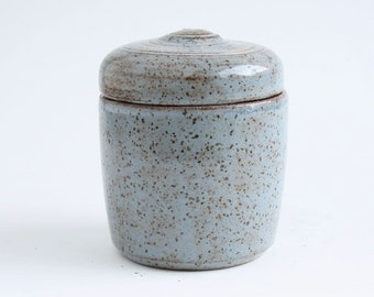 Small Blue Pet Urn - small dog, cat urn, blue cremation urn, urn with spots