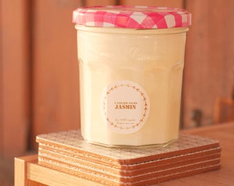 Natural candle - Jasmine scent without CMR