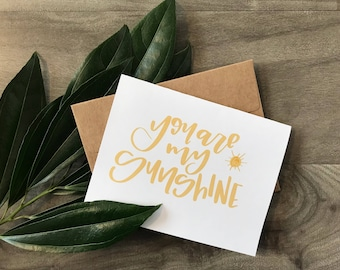 You Are My Sunshine Card Pack