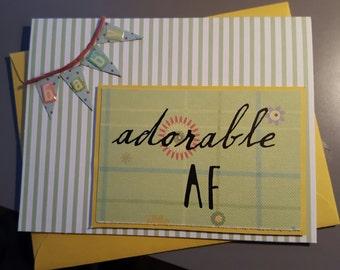 Adorable AF Handmade Baby Card