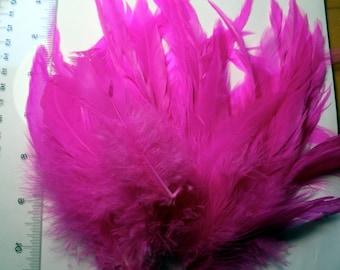 Federn aufgereiht Schlappen gefärbt heißen rosa 6 bis 8 Zoll SCH-15 Handwerk Federn Kanada