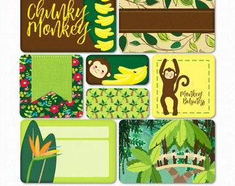 Chunky Baby Monkey Printable PS Cards