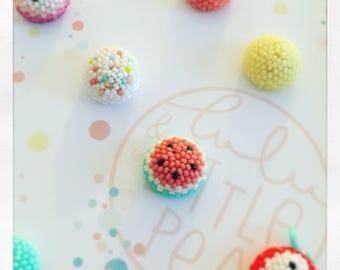 SET of 3 PINS confetti tutti fruity have choose