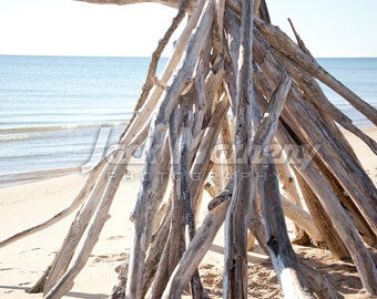 Beach Teepee Photo Digital Download