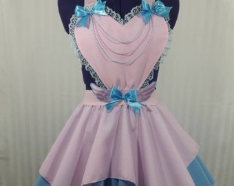 Pastel pink heart angel wings skirt romper fairy kei pastel fashion lolita small-plus size