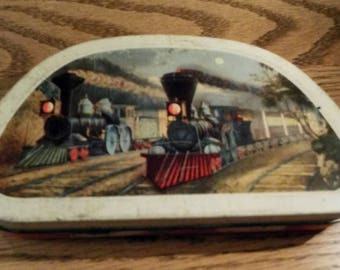 Vintage Edward Sharpe and sons Tin with Trains