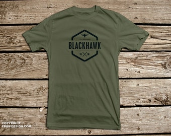 SALE! - Blackhawk Tactical Transport Helicopter - Organic Cotton T Shirt
