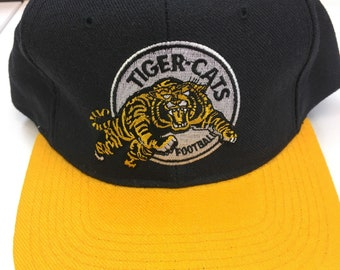 Vintage Hamilton Tiger Cats CFL Football 100% Wool Snapback Hat