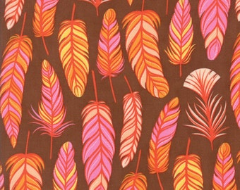 Moda Fabric  - Wing & Leaf  by Gina Martin - Chestnut - 10063 19 - Cotton fabric by the yard(s)