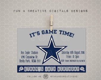 Football ticket party invitation dallas cowboys inspired dallas cowboys inspired invitation filmwisefo Gallery