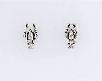 Sterling Silver Lobster Post or Stud Earrings