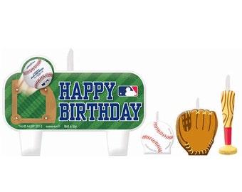 Major League Baseball Birthday Candle Set (4-pc) - NEW