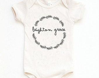 Custom Baby Gift, Custom Baby Onesie, Name Onesie, Baby Girl Gift, Baby Shower Onesie, Newborn Photo Outfit, Baby Girl Take Home Outfit