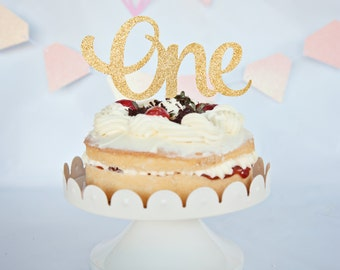 One cake topper, first birthday cake topper, 1st birthday cake topper, cake topper