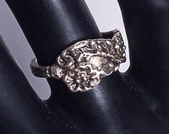 Antique Sterling Art Nouveau Ring - Spoon -  sz 6