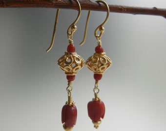 Coral Pele Earrings