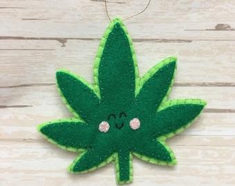 Handmade felt leaf
