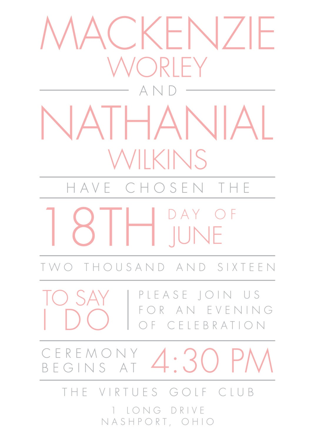 Affordable Wedding Invitations, Cheap Wedding Invites, Pink and ...