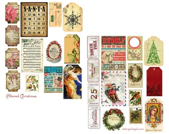 Altered Christmas Digital Collage Sheets