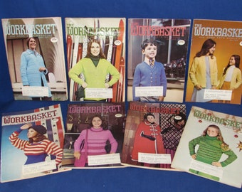 WORKBASKET and Home Arts MAGAZINE - Set of 8 months from 1973